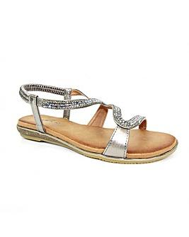Lunar Emilia 'S' Pattern Sandal