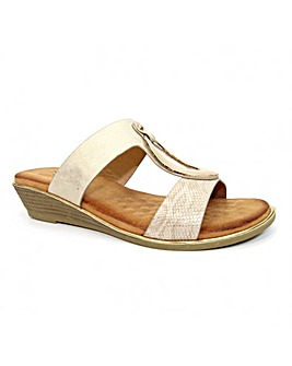 Lunar Pennita Low Wedge Sandal