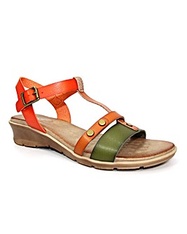 Lunar Marie Summer Low Wedge Sandal