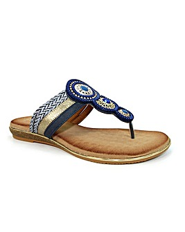 Lunar Carlotta Jewelled Toe Post Sandal