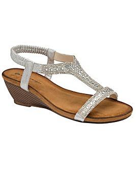 Dunlop Helena standard fit wedge sandals