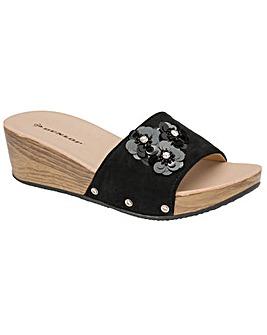 Dunlop Violet standard fit mule sandals