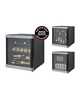 Russell Hobbs Black Glass Door Cooler