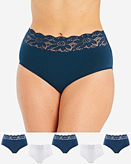 5PK Lace Top Full Fit Briefs