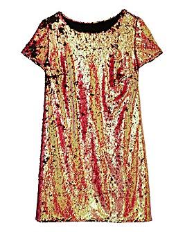 Rainbow Sequin Shift Dress