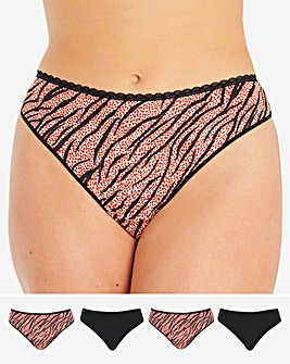 Pretty Secrets 4 Pack Micro Thongs