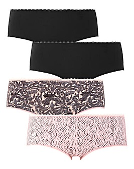 Pretty Secrets 4 Pack Micro Shorts