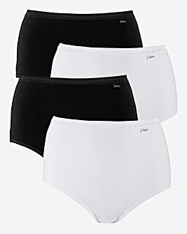 4 Pack Slimma Cotton Full Briefs