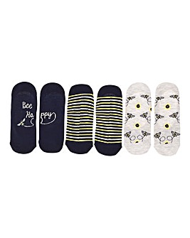 3 Pack Bee Print Footsies