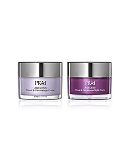 PRAI Ageless Throat & Decolletage Night & Day Duo