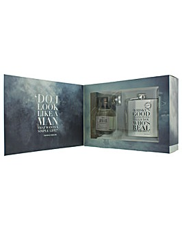Peaky Blinders Eau De Cologne And Hip Flask  Funnel Gift Set For Him