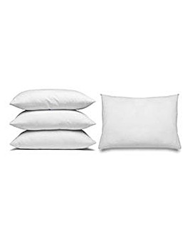 Pack 4 Duck Feather Square Pillows