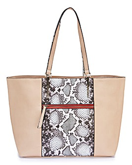 Snake Panel Shopper Bag
