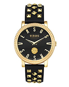 Versus Versace Black Studded Watch
