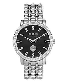 Versus Versace Silver Studded Watch