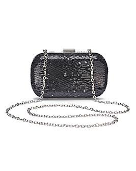 Alice Black Sequin Clutch Bag