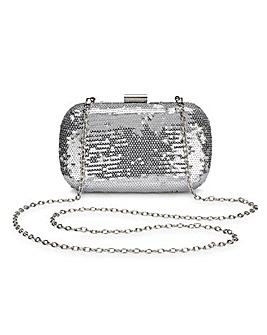 Alice Silver Sequin Clutch Bag