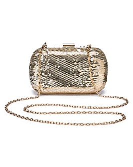 Alice Gold Sequin Clutch Bag