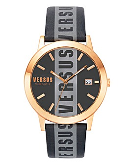 Versus Versace Black Logo Watch