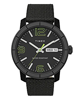 Timex Matte Black Fabric Strap Watch
