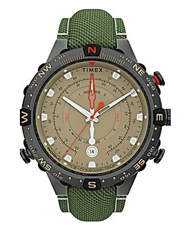 Timex Allied Khaki Fabric Strap Watch