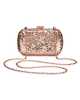 Alice Rose Gold Sequin Clutch Bag