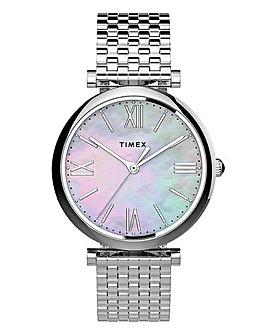 Timex Parisienne Silver Bracelet Watch