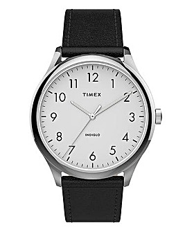Timex Classic Black Leather Watch