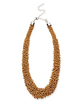 Gold Seedbead Frazzle Necklace
