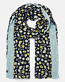Joules Conway Woven Scarf Stripe Floral