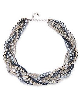 Joanna Hope Faux Pearl Twist Collar