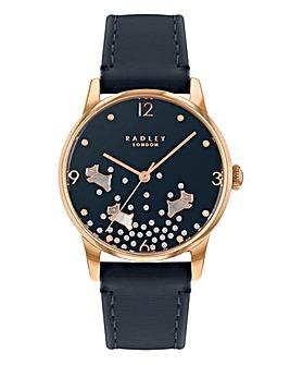 Radley Ditsy Glitter Dog Ladies Watch