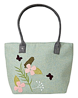 Joe Browns Spring Tweed Applique Tote