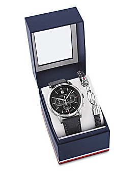 Tommy Hilfiger Leather Watch Set