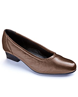 Heavenly Soles Leather Court Shoes Extra Wide EEEE Fit