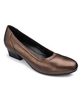 Heavenly Soles Leather Court Shoes Wide EE Fit
