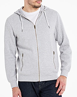 Pique Zip Through Hoodie