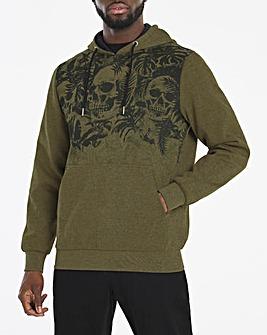 Skull Printed Overhead Hoodie