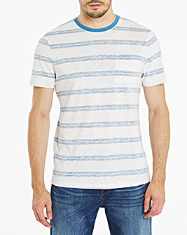 Reverse Printed Stripe T-Shirt