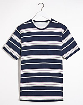 All Over Print Striped T-Shirt