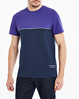 Textured Colour Block T-Shirt