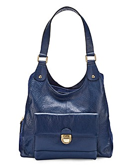 Leather Pocket Hobo Bag