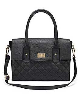 Leather Lock Detail Tote Bag 0cad16a3cfcdf