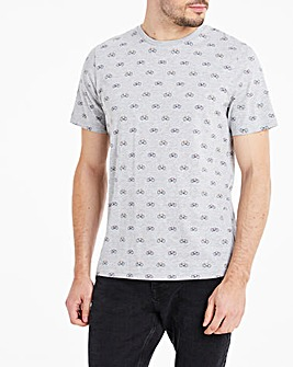 All Over Bicycle Print T-Shirt