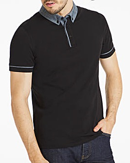 Chambray Collar Party Polo