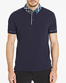 Checked Collar Party Polo