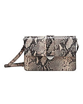 Violeta By Mango Snake Shoulder Bag