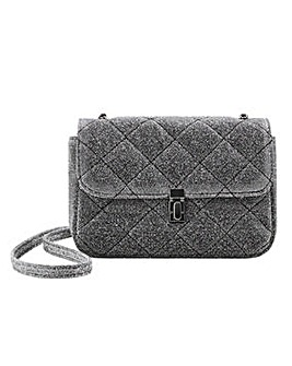 Violeta By Mango Quilted Glitter Shoulder Bag