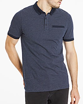 Button Down Jaquard Polo