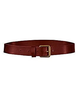 Berry Leather Jeans Belt